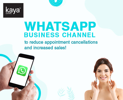 WhatsApp Channel to Help Kaya Clinic in their Business Campaigns