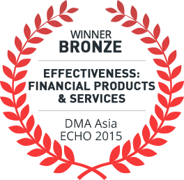Bronze Award Winner 2015, Effectiveness Finacial Products and Services